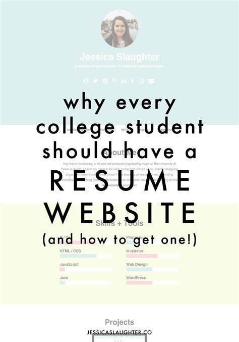 college student    resume website