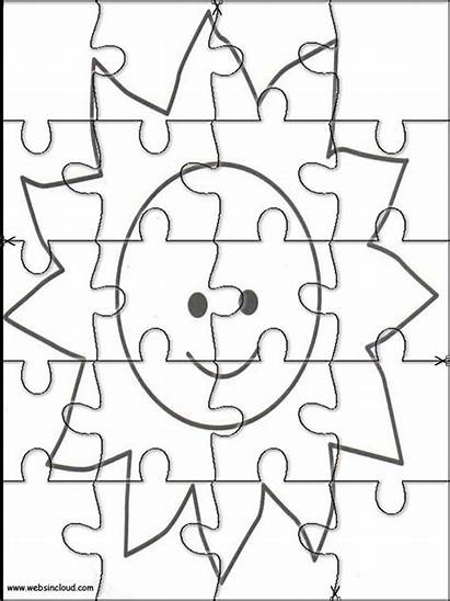Puzzles Space Jigsaw Printable Coloring Cut Pages