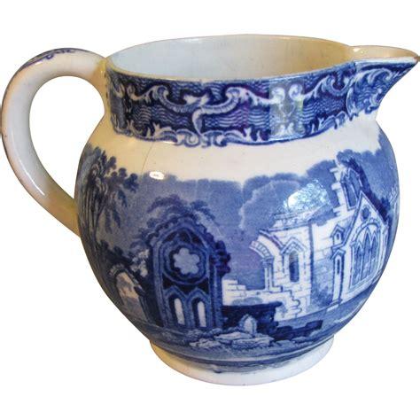 milk pitcher 1259 blue lovely flow blue milk jug pitcher from tomjudy on