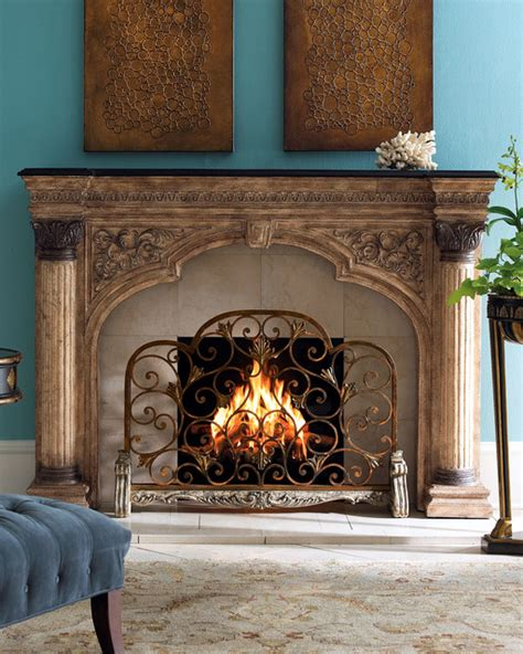 modern fireplace screens arched fireplace screen contemporary fireplace screens