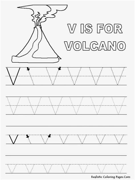 alphabet tracer pages v volcano jpg jpeg image 1200