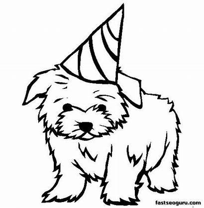 Coloring Pages Dog Printable Animal Maltese