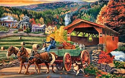 Harvest Autumn Market Backgrounds Widescreen Puzzle Jigsaw