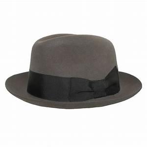 Mens Rabbit Fur Retro Felt Pinchfront Hat by Stefeno ...