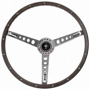 Mustang Woodgrain Steering Wheel Kit With Center Cap 1965