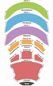 California Center For The Arts Seating Chart