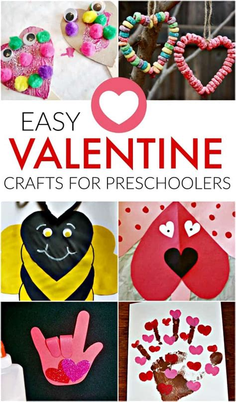 easy craft ideas for preschoolers crafts for 906 | easy valentine crafts preschoolers