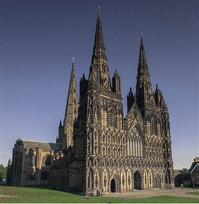 Cathedral Lichfield Three Staffordshire Cathedrals Spires Wikipedia
