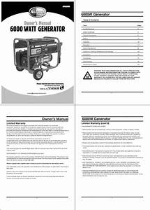All Power Apgg6000 User Manual Generator Manuals And