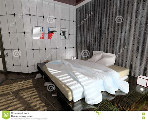 Modern Bedroom Interior Design Computer Generated Image by Modern Bedroom Interior Royalty Free Stock Images Image