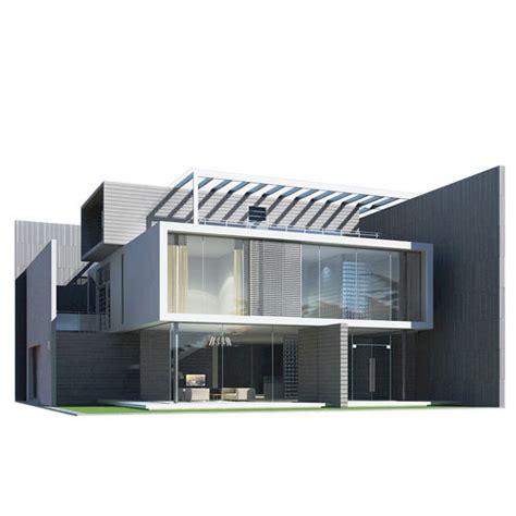 3d Model Modern House Residential Cgtrader