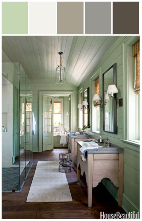 blissful abode lake house bathroom styylze color paint allison house magazine