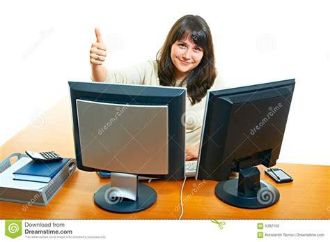 l amour dans le bureau femme dans le bureau photo libre de droits image 5392155