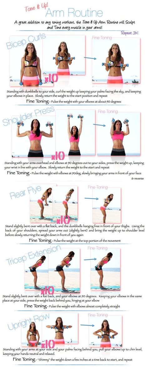 ideas  tone arms workout  pinterest arm