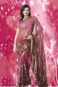 designer saree lifestyle pink colour designer sarees