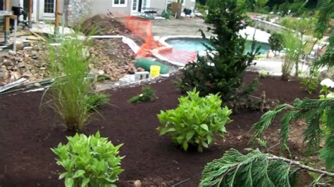 how to land scape how to mulch your landscape with a mulch blower youtube