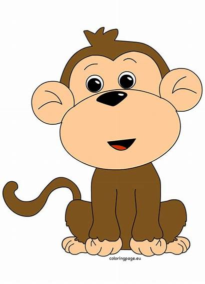 Monkey Clipart Clip Coloring Mokey Clipartandscrap Animal