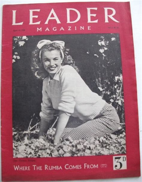 marilyn monroe first magazine cover marilyn monroe leader magazine april 13 1946 buy now