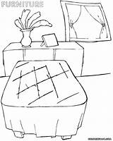 Furniture Coloring Pages Furniture5 sketch template