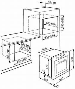 Smeg F67-7 Technical Drawing