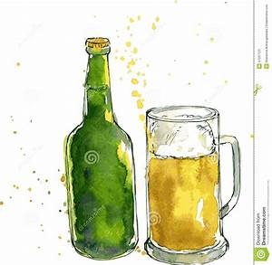 Beer Bottle And Cup Stock Vector - Image: 47007123