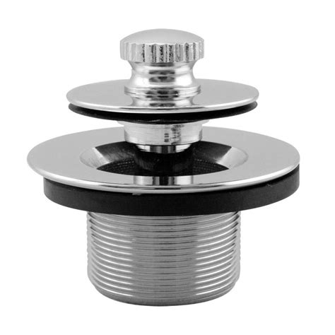 home depot bathroom sink stopper westbrass 1 3 8 in npsm thread twist and bath