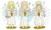 Clip Art of Painting of angels singing Christmas carol ...