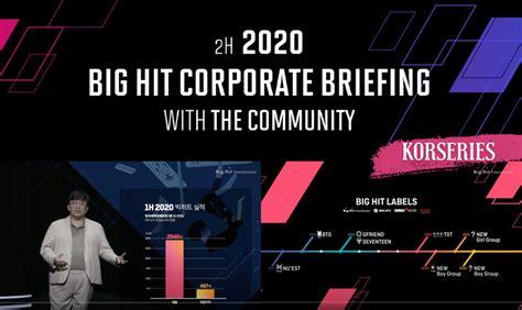 Big Hit เผยผลประกอบการในช่วงครึ่งปีแรก 2020 พร้อมกางแผนงาน ...
