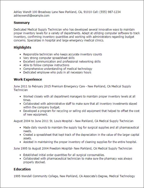 #1 Medical Supply Technician Resume Templates Try Them. Computer Tech Resume. Resume Samples For Retail. Sample Cover Letter For Administrative Assistant Resume. Resume Samples For Freshers Mechanical Engineers. Jquery File Upload Resume. Claims Adjuster Resume Sample. How To Right A Cover Letter For A Resume. What Subject To Write When Sending A Resume