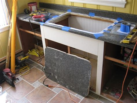 how to cut kitchen countertop for sink installing a self sink in a postform laminate 9371