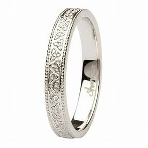 celtic trinity knot 14k white gold wedding ring With trinity wedding ring