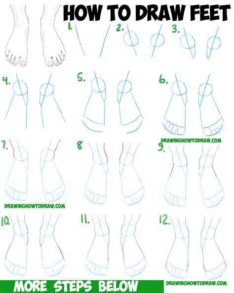 draw feet  human foot  easy step  step