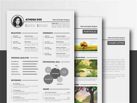 athena resume free complete resume template in multiple