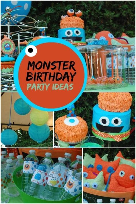 silly monster  birthday party spaceships