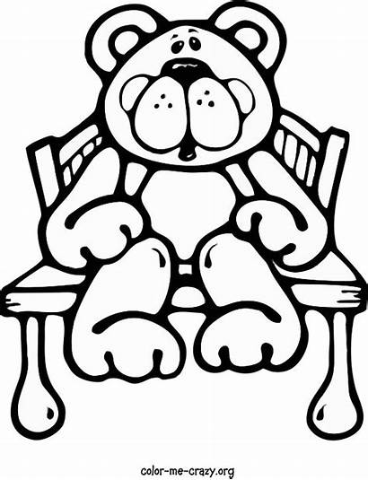 Coloring Pages Printable Crazy Things Bear