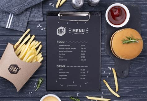 Find & download free graphic resources for mockup food. Free PSD   Fast food menu concept mock-up