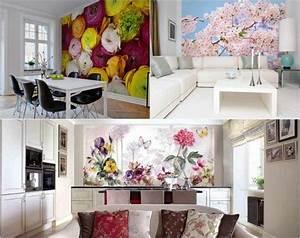 Papier Peint Fleuri : papier peint fleuri rafra chissons la maison pour le ~ Premium-room.com Idées de Décoration