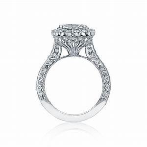 Tacori engagement rings royalt diamond halo setting 132ctw for Wedding ring tacori