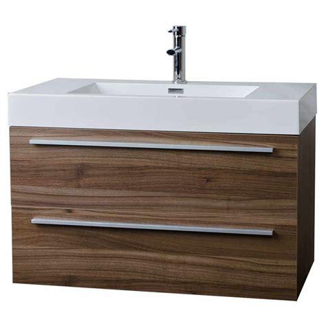 wall mount contemporary bathroom vanity walnut