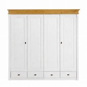 Kleiderschrank Weiß Gebeizt : landhaus classic dreht renschrank f r ein klassisch l ndliches zuhause home24 ~ Watch28wear.com Haus und Dekorationen