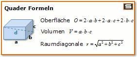 Netz Id Berechnen : quader berechnen online volumen oberfl che raumdiagonale ~ Themetempest.com Abrechnung