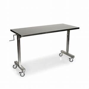 Stainless Steel Height Adjustable Table