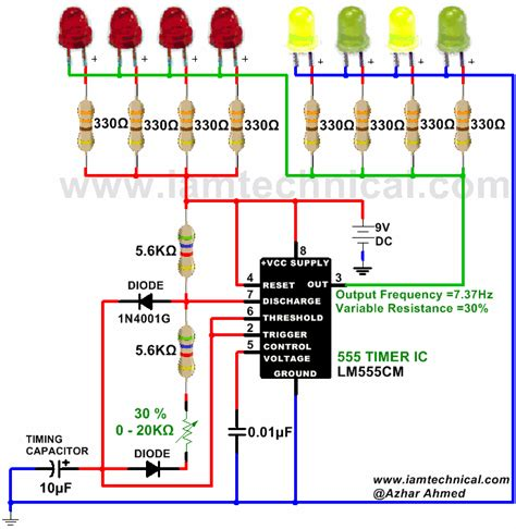 astable multivibrator circuit using 555 timer output