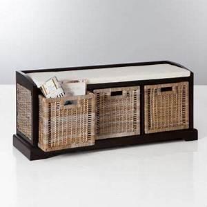 Banc Pour Dressing : banc de rangement 3 tiroirs en pin massif et kubu kil ~ Teatrodelosmanantiales.com Idées de Décoration