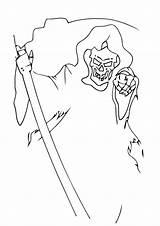Death Coloring Death1 sketch template