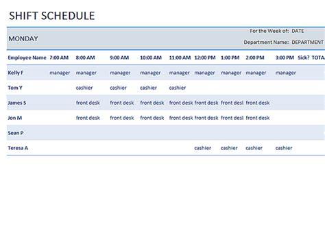 weekly employee shift schedule template excel excel shift schedule template schedule template free