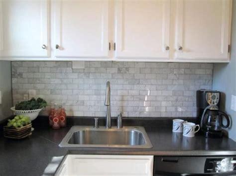 grey subway tile backsplash kitchen 2x4 carrara marble tiles blue grey paint charcoal 6968