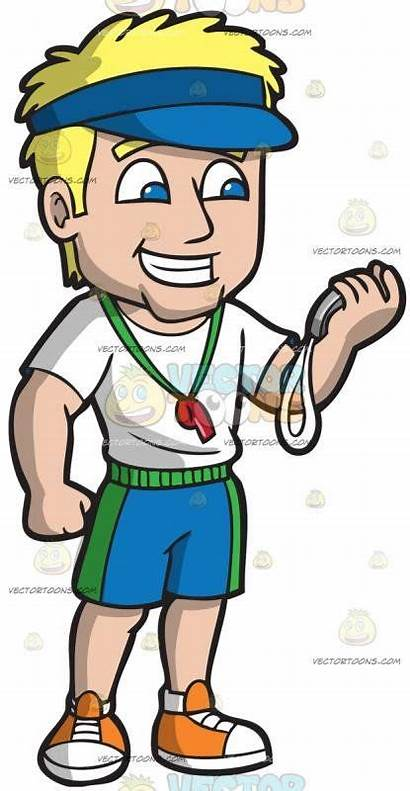 Teacher Gym Hair Male Blonde Shorts Wearing