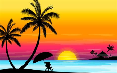 beach vector hd wallpapers page   hd wallpapers