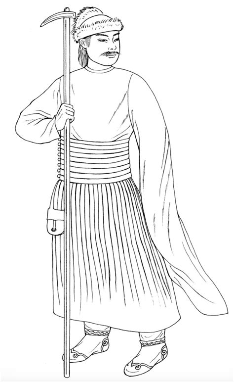 Yuan Dynasty Military Officer | Fashion coloring book
